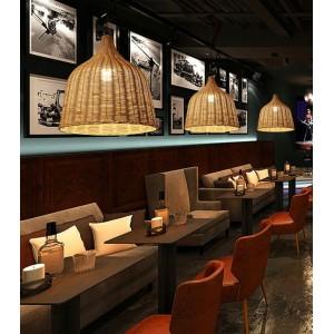 Luminaire suspendue osier restaurant