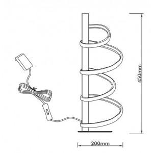 Lampe de table design spirale led