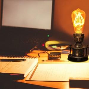 Lampe chevet rétro bronze
