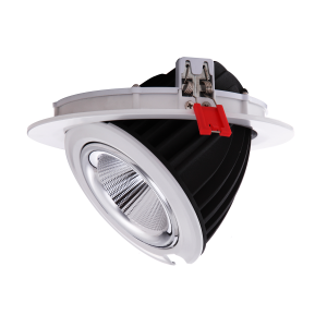 Downlight LED rond encastrable et inclinable 48W