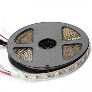 Ruban LED RGB intelligent IC 5V DC SMD 5050 72W IP20 5M