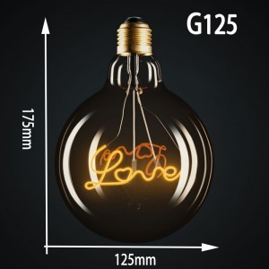 "Ampoule LED à filament ""LOVE"""