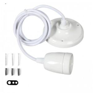 Lampe suspension en céramique blanche