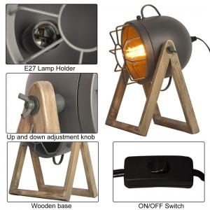 lampe mini bois et spot
