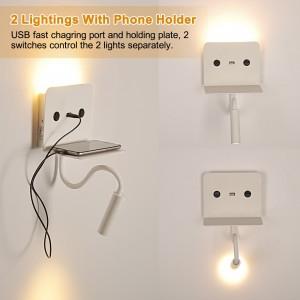 Lampe de lecture orientable avec USB