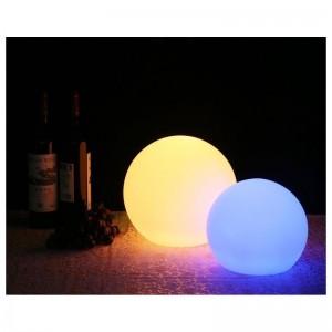 Boule lumineuse LED RGBW 15cm rechargeable extérieur