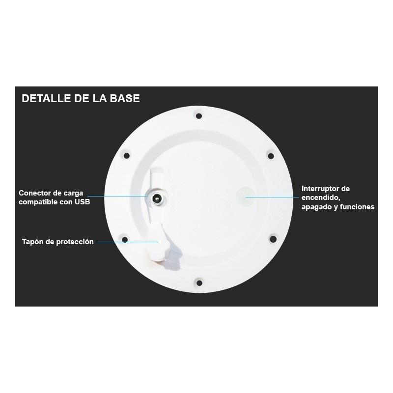 Kit Luces de suelo 6 balizas Ø58x9mm + Cables conexión + Fuente alimentación 0,65A
