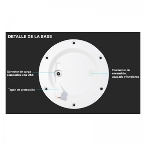 KIT Lumières LED de sol 6 balises Ø58x9mm + Câble raccordement + Alimentation 0,65A