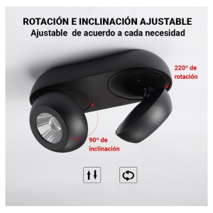 "Applique LED 2 spots ""Look- 2"" ​​18W"