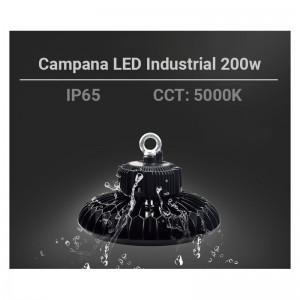 Cloche LED industrielle UFO 200W circulair à haut rendement