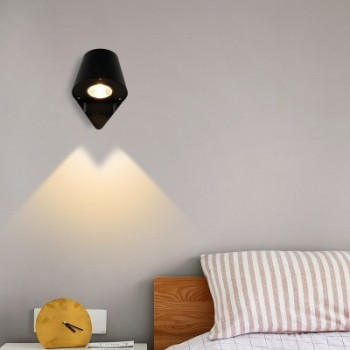 Support spot encastrable rond basculable pour dichroïque LED, Ø80/90mm. Couleur Aluminium