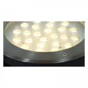 Spot LED encastrable au sol 18W 12VDC IP67  3000K