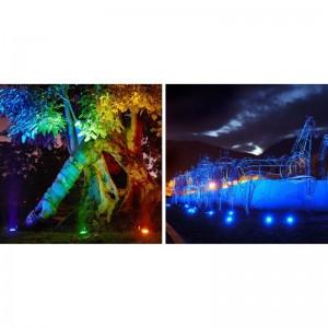 Spot LED encastrable au sol extérieur RGB