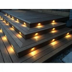 Kit 6 spots LED encastrables 0,4W IP67 pour escalier