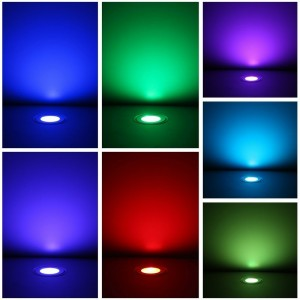Kit 6 balises LED RGB 0.6W IP67 encastrables au sol