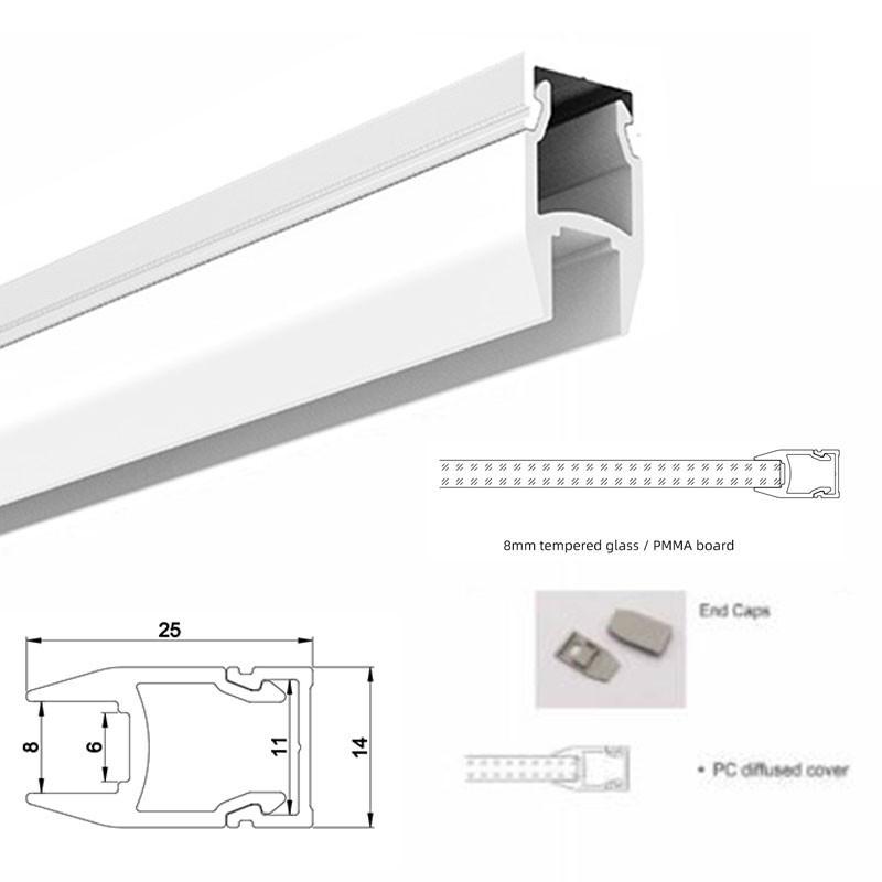 Funda IP67 estanca para tira de LED x1mt