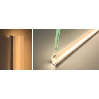 KIT Profilé en aluminium de surface 23X15mm avec diffuseur opale + embouts + 4 clips de fixation (barre de 2m)