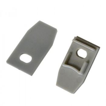 KIT Profilé en aluminium pour encastrer 23X15mm avec diffuseur transparent + embouts (Barre 2m)
