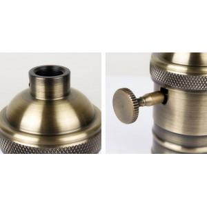 Douille E27 en finition bronze avec interrupteur (Vintage Serie)