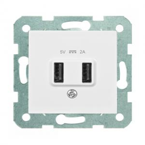 Prise chargeur USB double 5V 2A - Panasonic