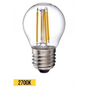 Ampoule LED E27 6W G45 filament retro