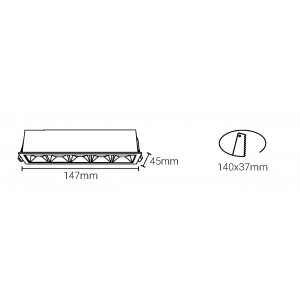 Linéaire LED encastrable 10W puces Osram