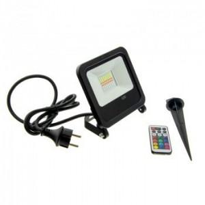 Projecteur LED RGB 50W télécommande IP65