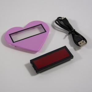 Afficheur LED portable programmable avec cadre en forme cœur