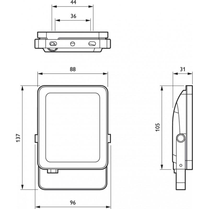 Boîte de 20 Downlight LED extra plats circulaires 18W