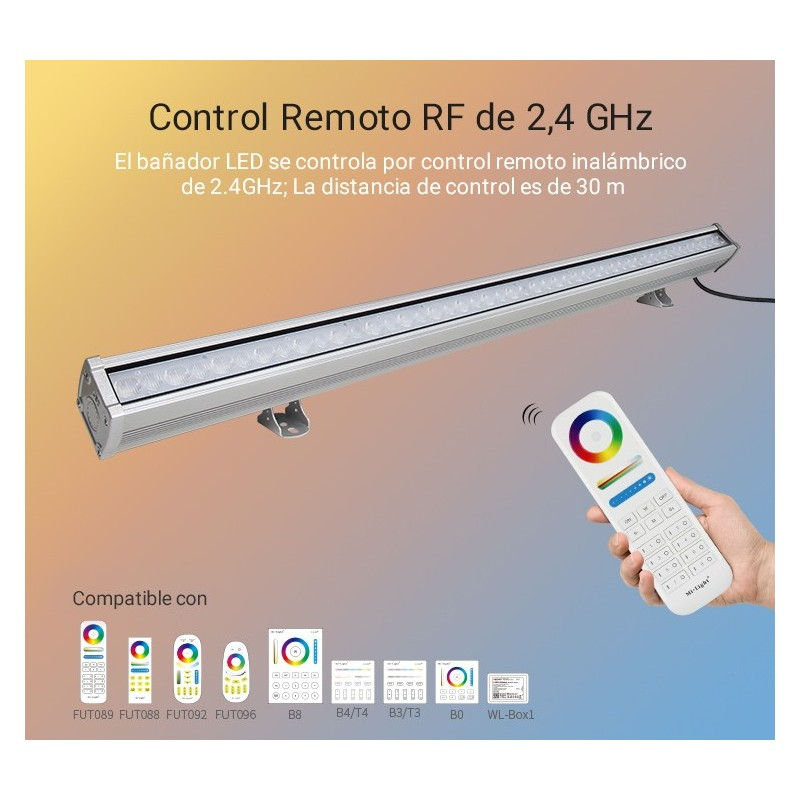 PANEL LED 1200X300MM 45W SMD2835 230V-AC MARCO BLANCO ÁNGULO 160º