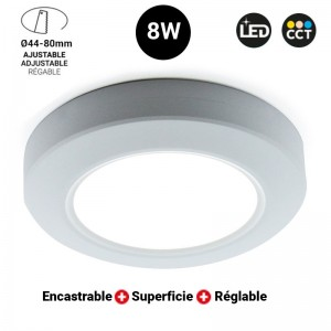 Spot LED 8W multifonctions CCT