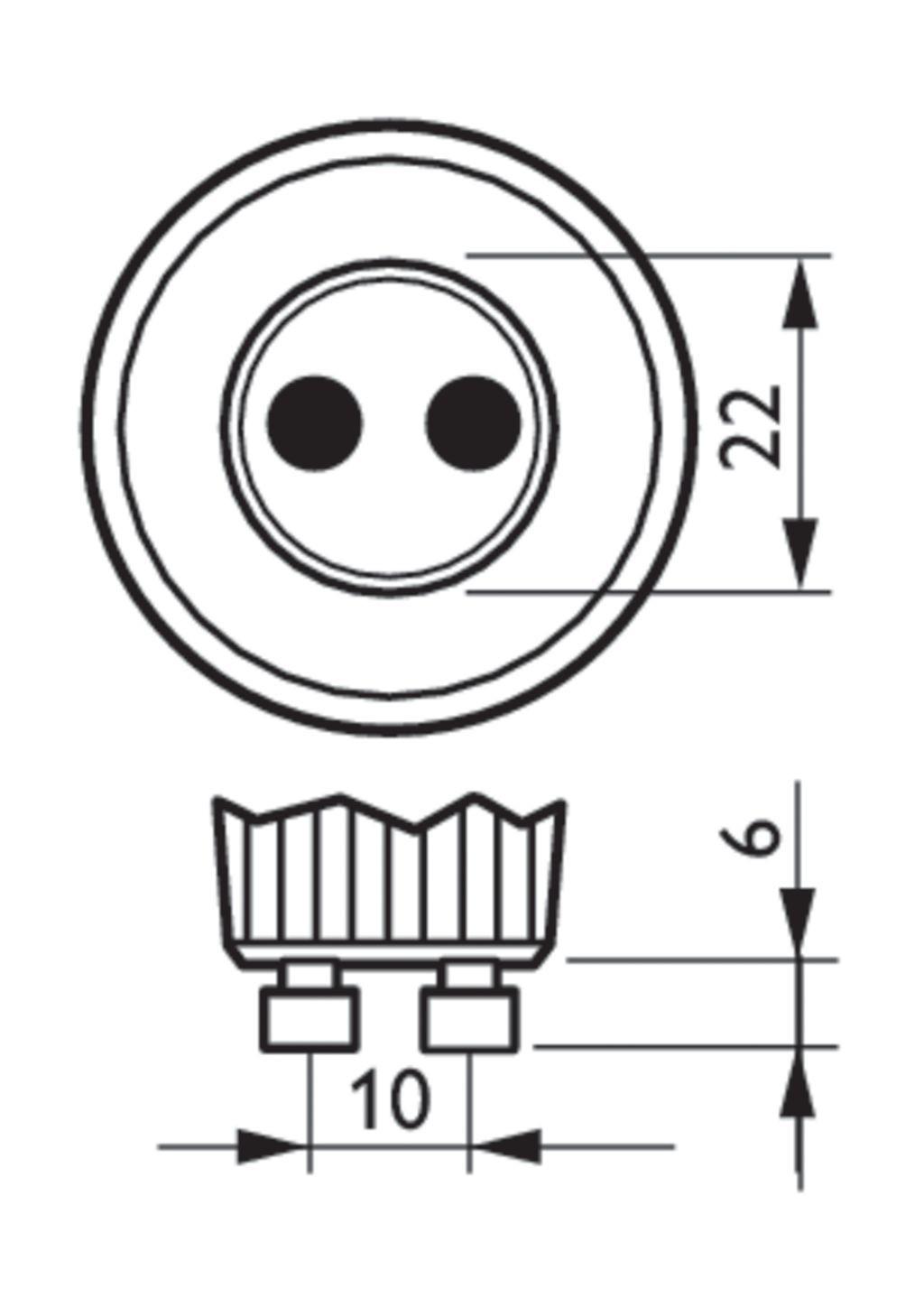 variateur deux touches unicolore, radiofréquence, 2 zones de contrôle