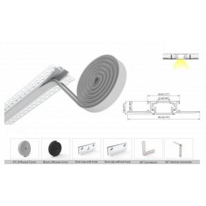 Lampe économique de suspension Round Fold en silicone, Noir