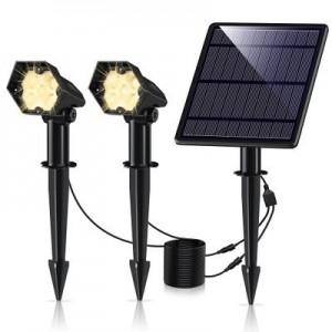 Double spot solaire extérieur 3W IP65