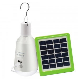 Ampoule LED multifonction 7W charge USB et solaire