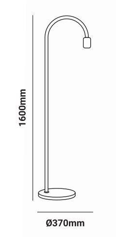 Support circulaire Ø145mm dichroïque