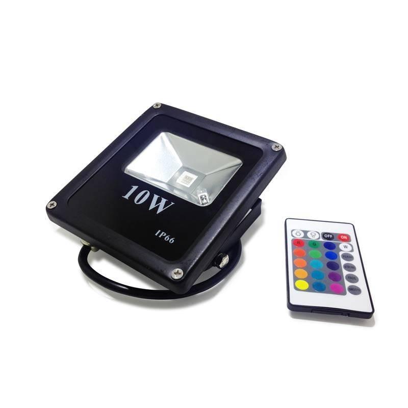 Projecteur LED RGB 10W extérieur 230V