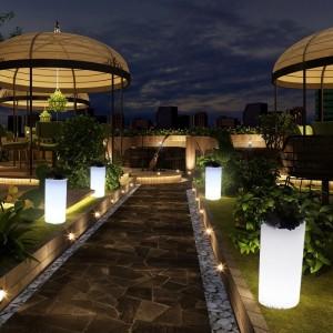 vase LED extérieur