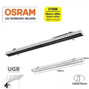 Linéaire LED encastrable 40W UGR18 Puces Osram