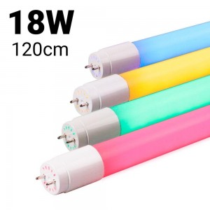 Tube LED T8 120cm 18 W de couleur