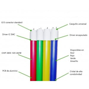 Tube LED T8 de couleur