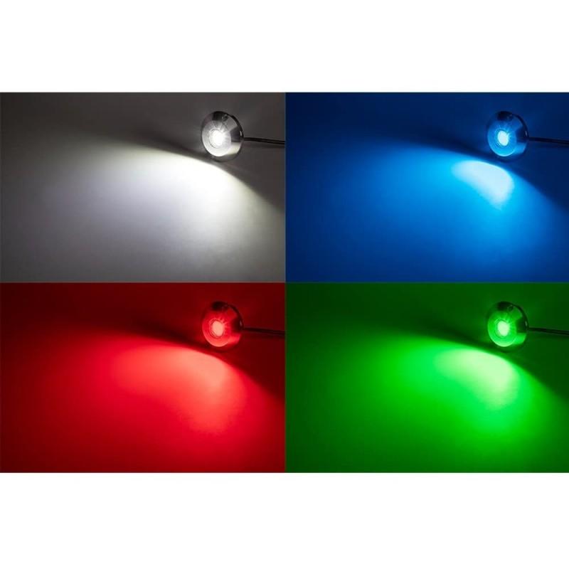 Lèche-mur LED encastrable 12W 12V IP67, BLANC CHAUD