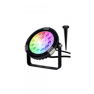Projecteur LED de  jardin RGB + CCT 9W 230V Contrôle par RF et WIFI via application mobile