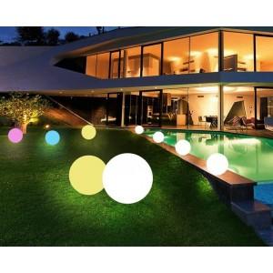 boule lumineuse LED RGBW sans fil 50cm pour extérieur