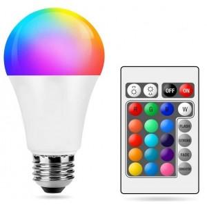 Ampoule LED RGBWW A60 E27 10W avec télécommande