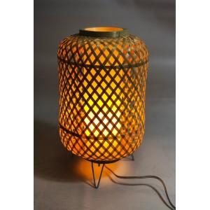 Lampe de table en bambou