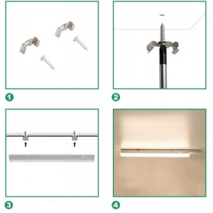 installation reglette LED dessous de meubles