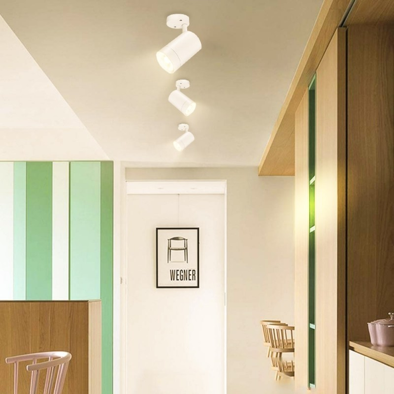 Vase lumineux LED RGB en résine blanche