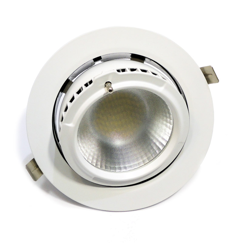 Spot LED encastrable rond 38W 60º Rotatif et Basculable