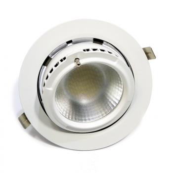 Spot LED encastrable rond 38W 60º Rotatif et Basculable